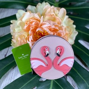 NWT! Kate Spade Flamingo By The Pool Coin Purse